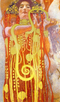 """Hygiea. Detail of """"Medicine,"""" by Gustav Klimt, 1901."""