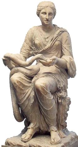 Hygieia. (Image: Theoi.com)