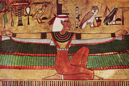 Isis, from mural in the tomb of of Seti I in the Valley of the Kings